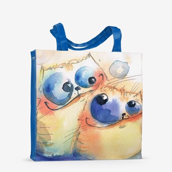 Сумка-шоппер «Теплые коты»