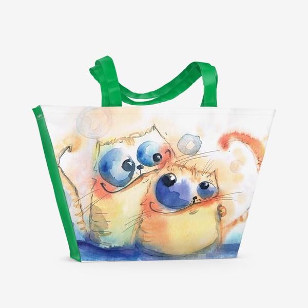 Пляжная сумка «Теплые коты»