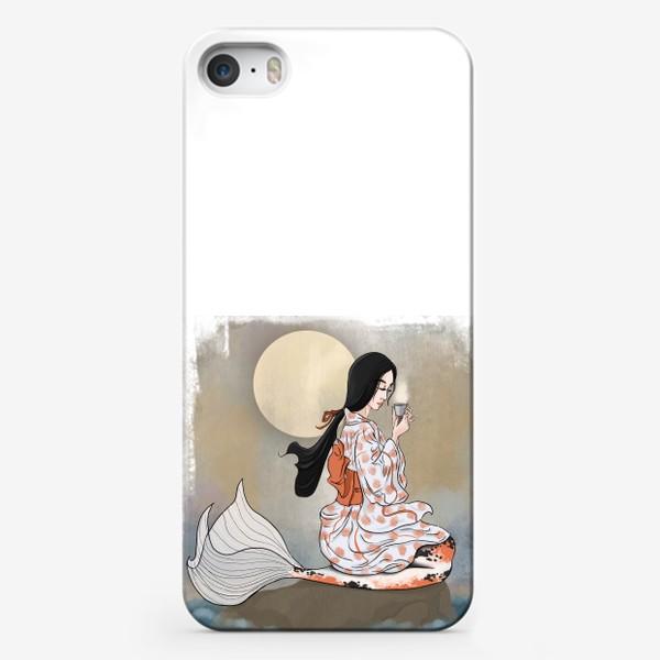 Чехол iPhone «Японская русалочка Кои за Чайной церемонией»