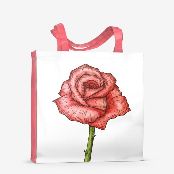 Сумка-шоппер «Роза. Акварель»
