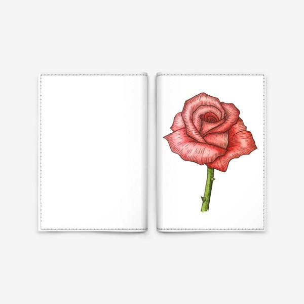 Обложка для паспорта «Роза. Акварель»