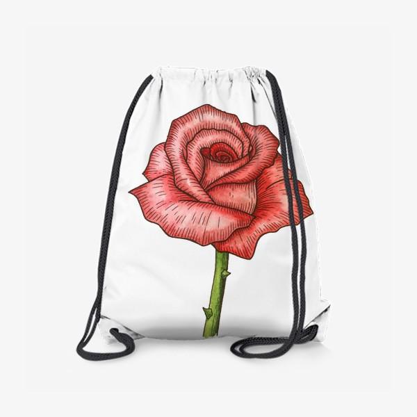 Рюкзак «Роза. Акварель»