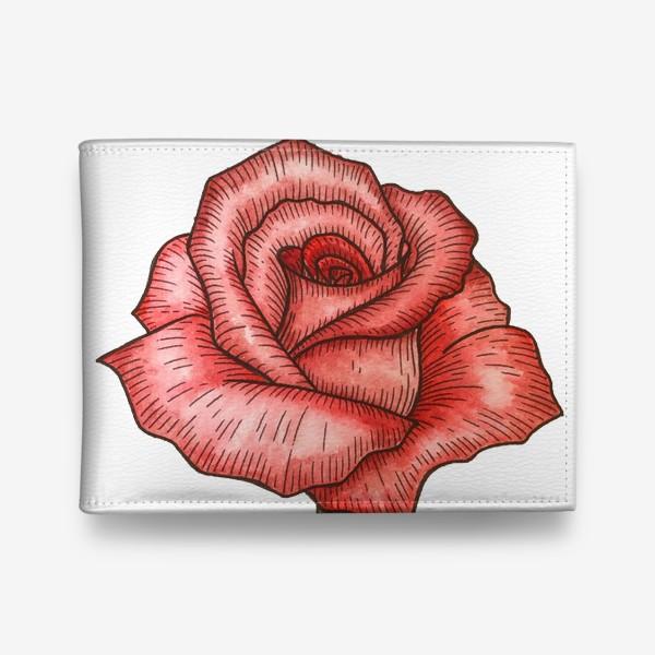 Кошелек «Роза. Акварель»