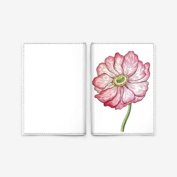 Обложка для паспорта «Анемона. Акварель»