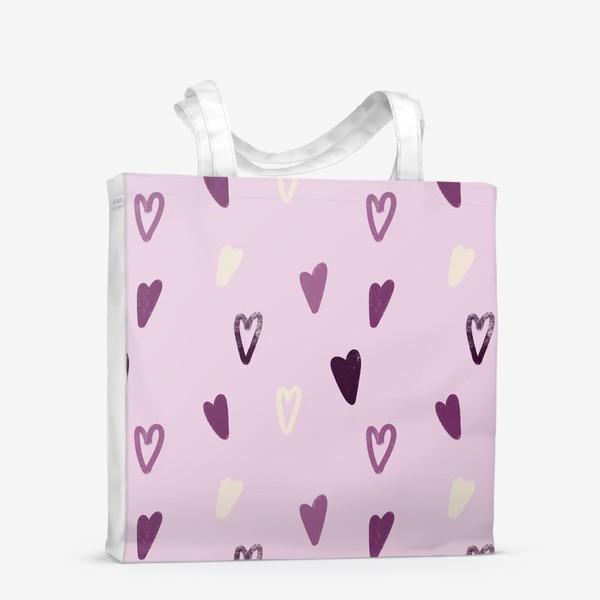 Сумка-шоппер «Лавандовые сердечки»