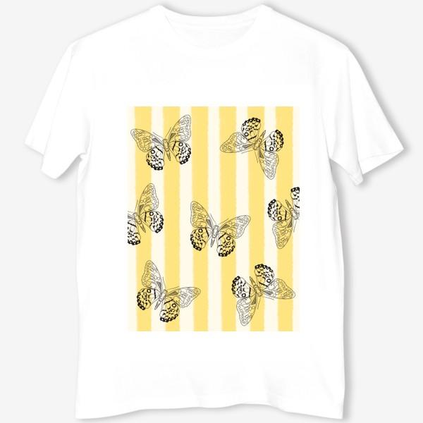Футболка «Бабочки и полоска»