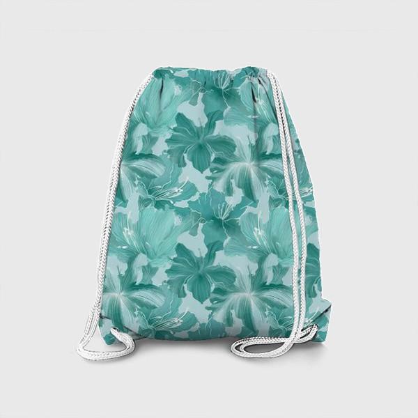 Рюкзак «бирюзовые рододендроны »