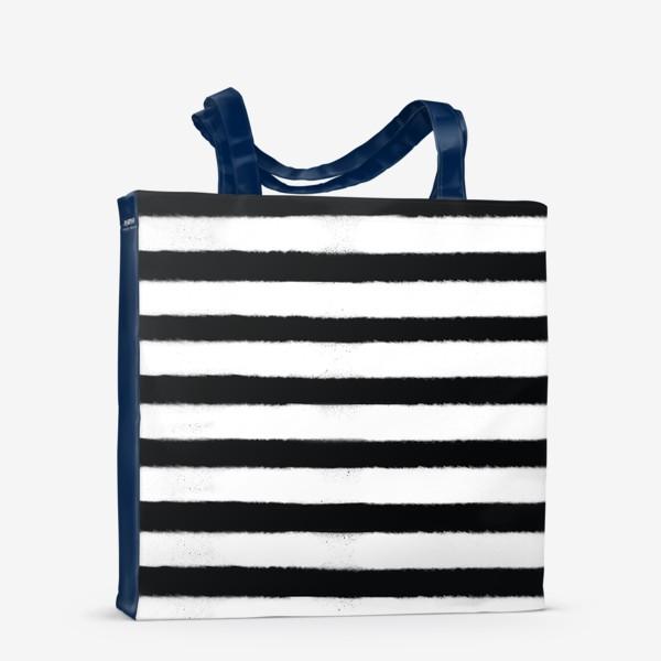 Сумка-шоппер «Полоса белая, полоса черная»