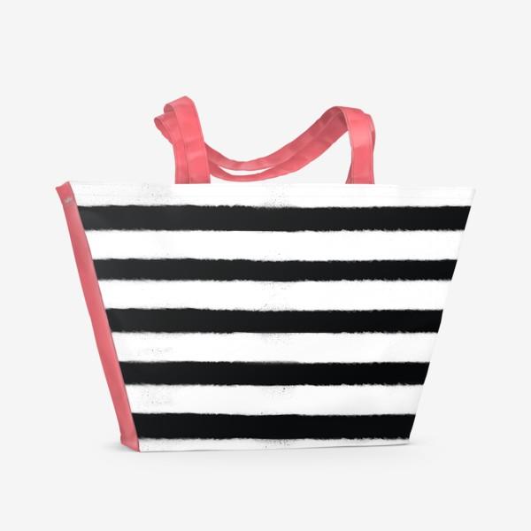 Пляжная сумка «Полоса белая, полоса черная»