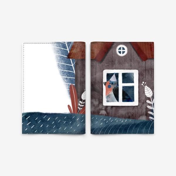 Обложка для паспорта «Птичка в домике»