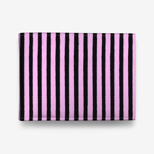 Кошелек «Полоска черно-розовая»