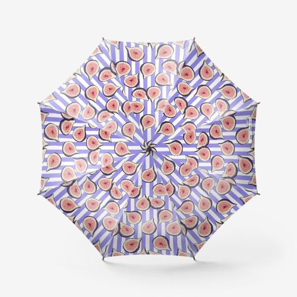 Зонт «Инжир на фиолетовой полоске»
