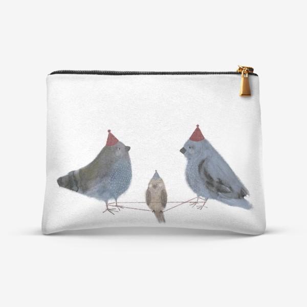 Косметичка «Птицы играют в резиночку»