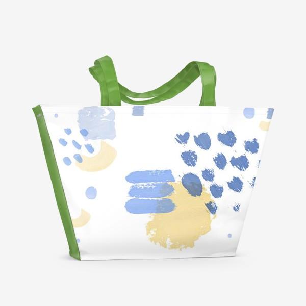 Пляжная сумка «Жизнь фактур. Абстрактный паттерн»