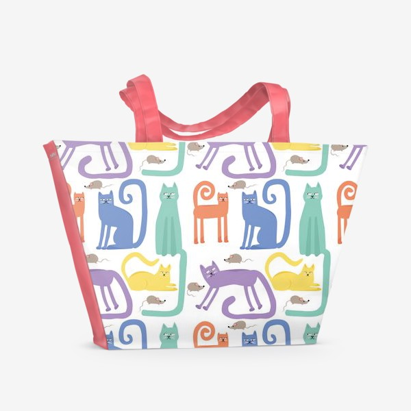 Пляжная сумка «Кошки»