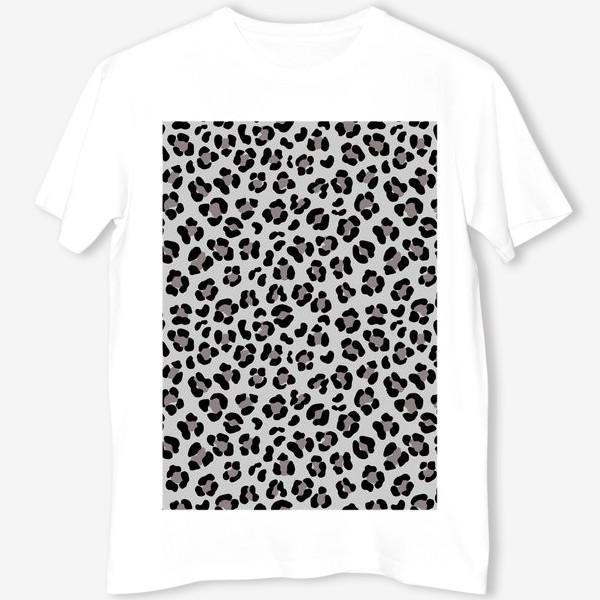 Футболка «Леопардовый принт в сером и черном»