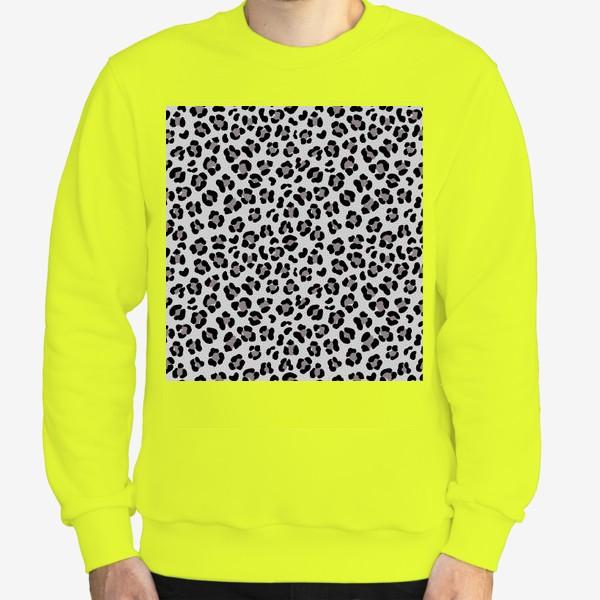 Свитшот «Леопардовый принт в сером и черном»