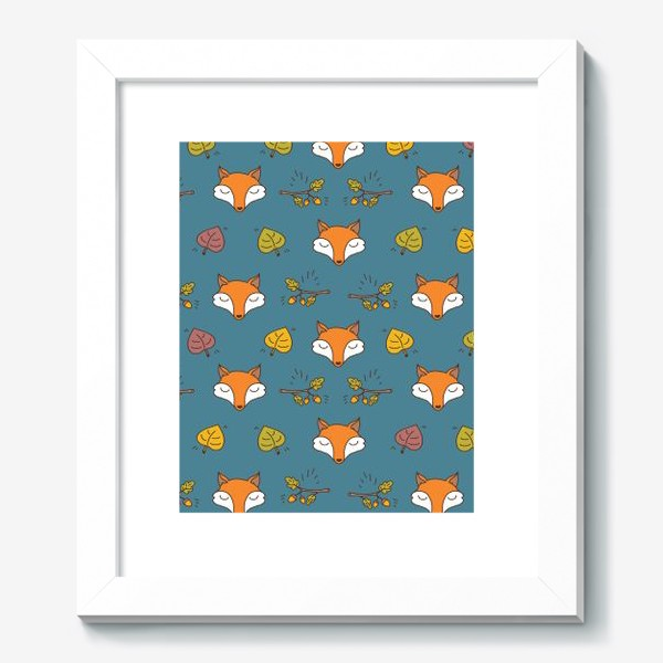 Картина «Паттерн с милыми осенними лисами»