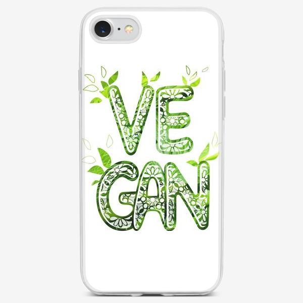 Чехол iPhone «Люблю зелень. Веган.»