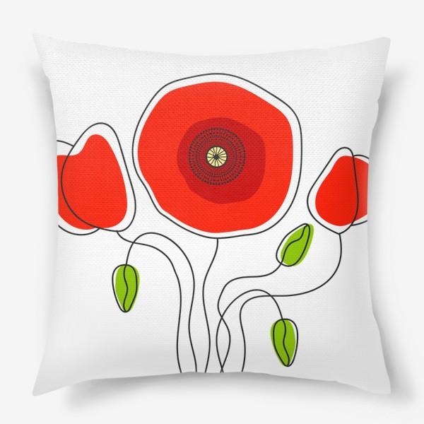 Подушка «Векторная иллюстрация»