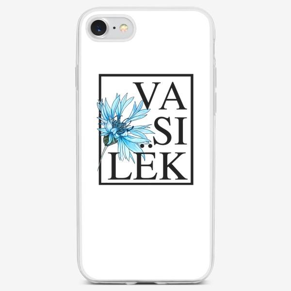 Чехол iPhone «Василек»