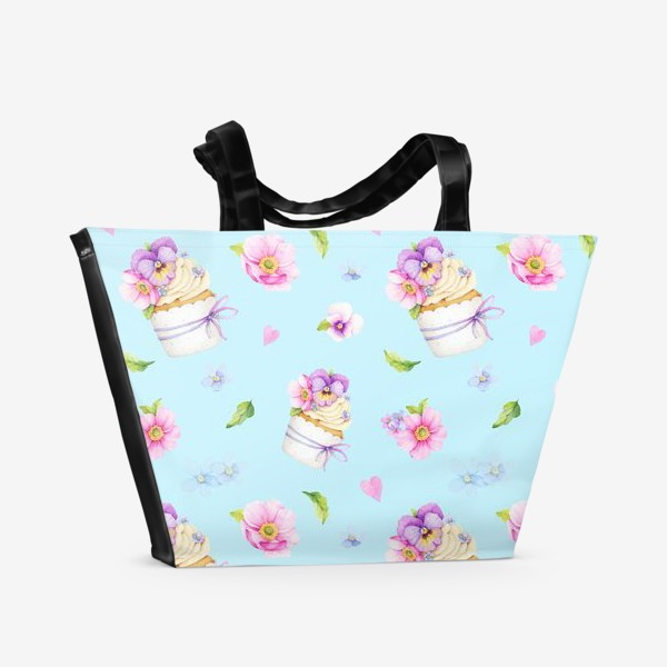 Пляжная сумка «Капкейки»