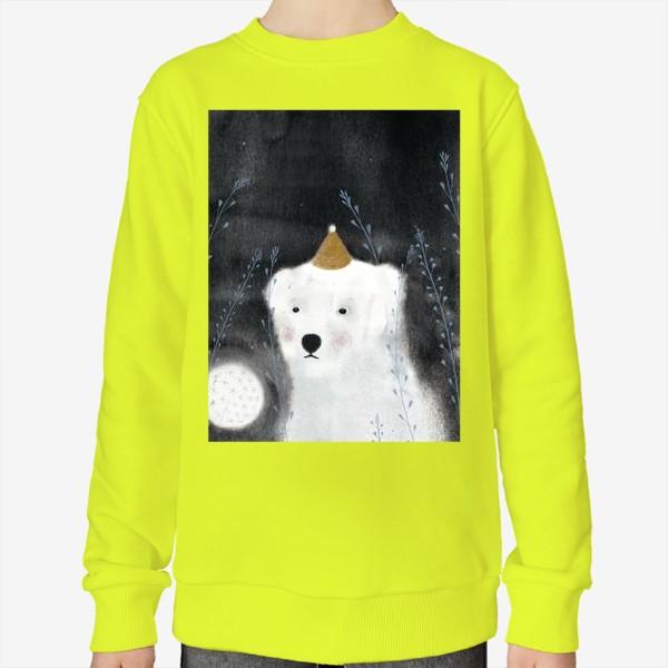 Свитшот «Медведь и одуванчик»