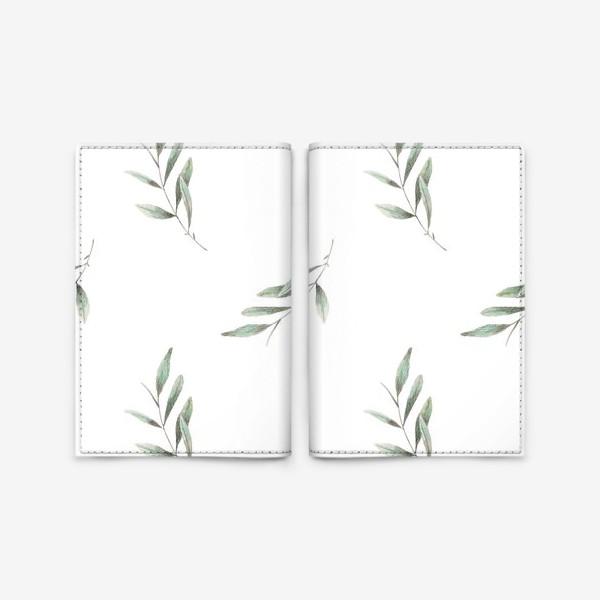 Обложка для паспорта «Оливковая ветка на белом фоне»