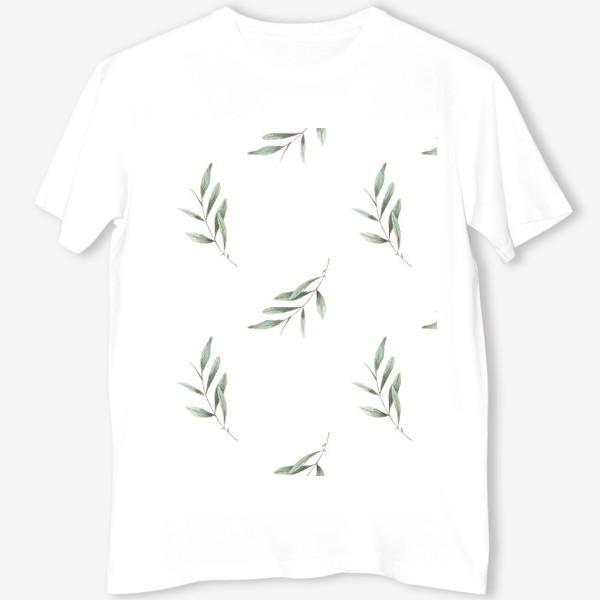 Футболка «Оливковая ветка на белом фоне»