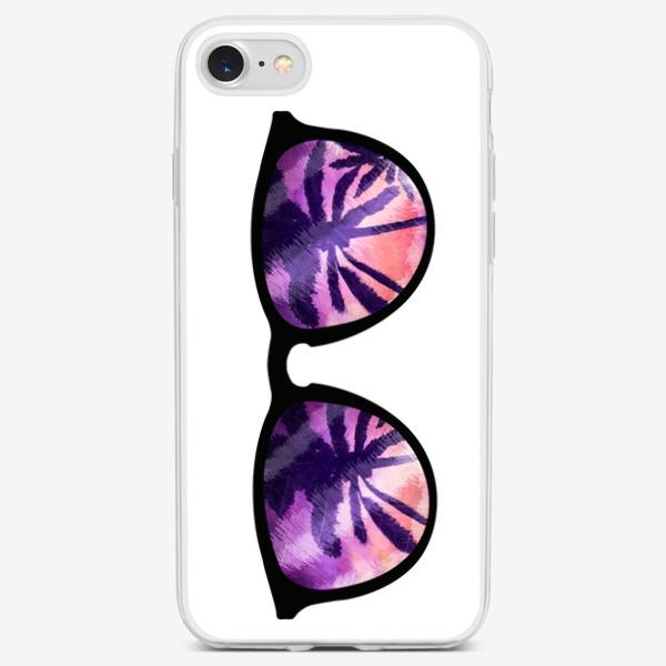 Чехол iPhone «Лето. Солнечные очки. Пальмы»