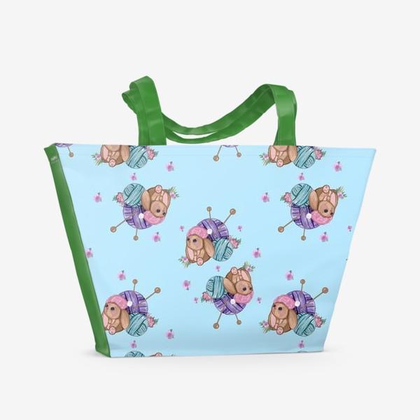 Пляжная сумка «Пряжа Игрушки »