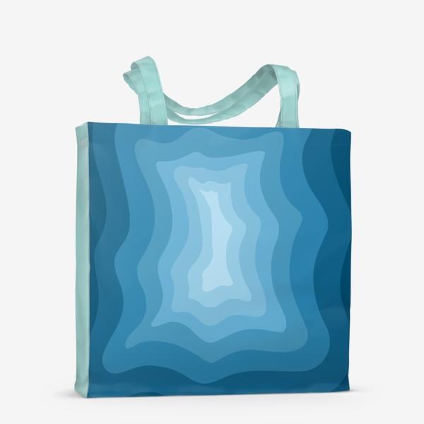 Сумка-шоппер «Абстракция 3д/Море»