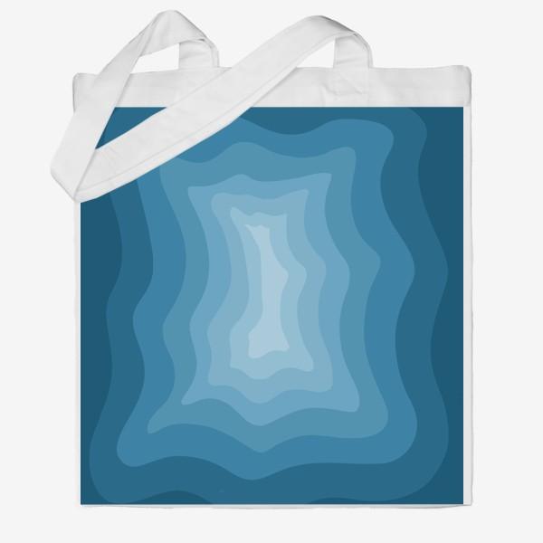 Сумка хб «Абстракция 3д/Море»