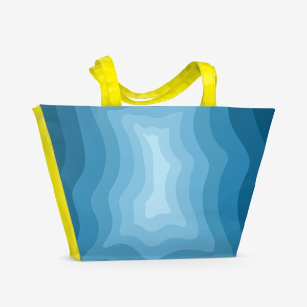 Пляжная сумка «Абстракция 3д/Море»