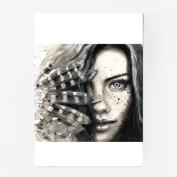 Постер «'FRECKLY' - Девушка с веснушками »