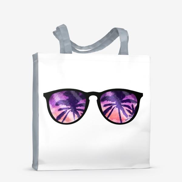 Сумка-шоппер «Лето. Солнечные очки. Пальмы»