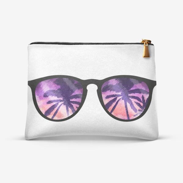 Косметичка «Лето. Солнечные очки. Пальмы»