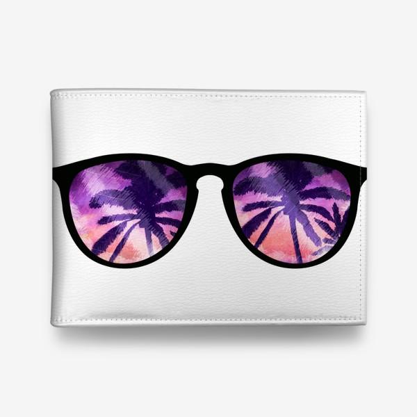 Кошелек «Лето. Солнечные очки. Пальмы»