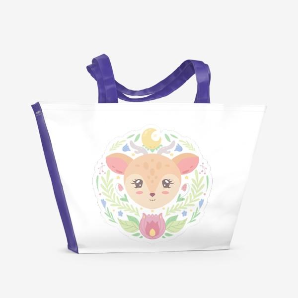 Пляжная сумка «Милый оленёнок »