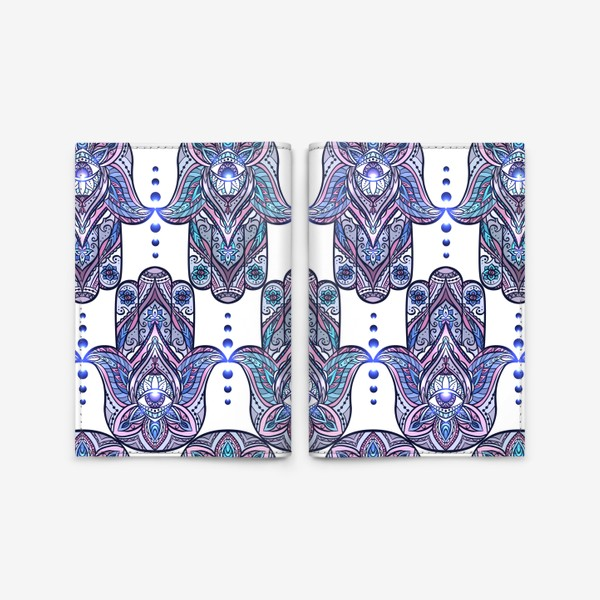 Обложка для паспорта «Хамса с бохо узором»