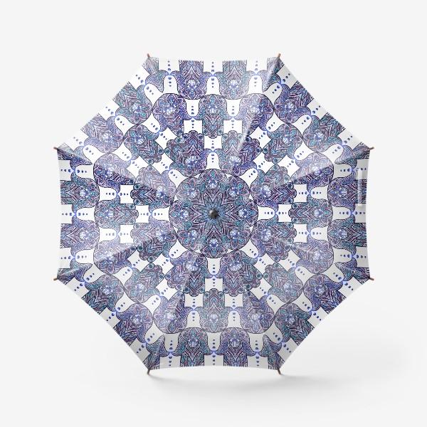 Зонт «Хамса с бохо узором»