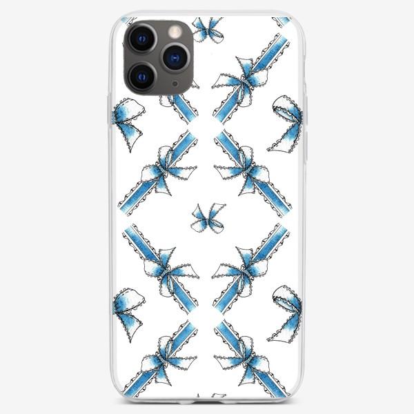 Чехол iPhone «Голубые ленточки»