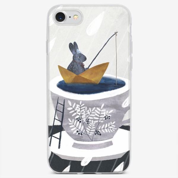 Чехол iPhone «Заяц в чашке»