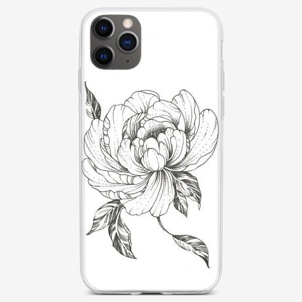 Чехол iPhone «Цветы Пион Flowers Pion»