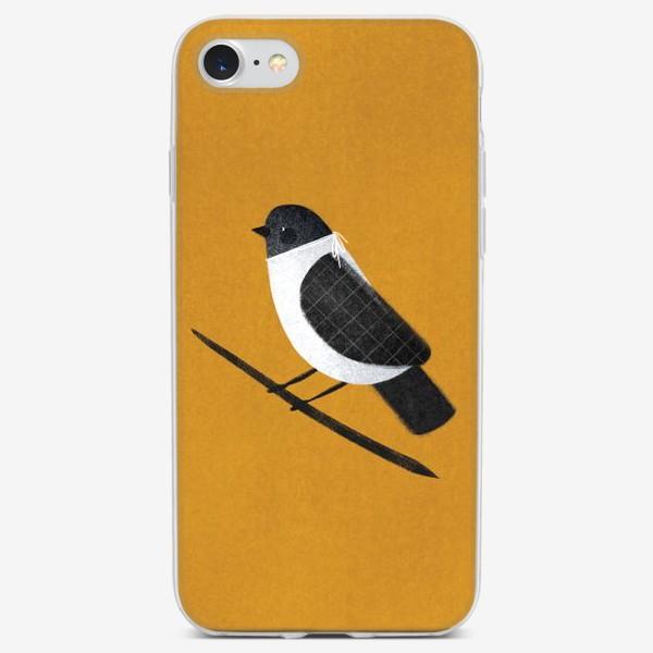 Чехол iPhone «Сорока на ветке»
