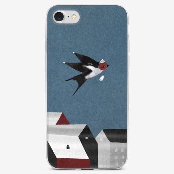 Чехол iPhone «Ласточка с весточкой»