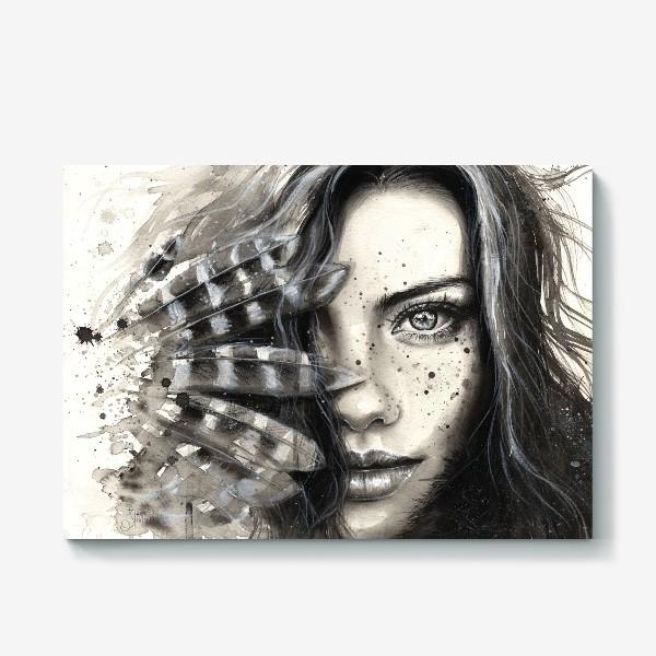 Холст «'FRECKLY' - Девушка с веснушками »
