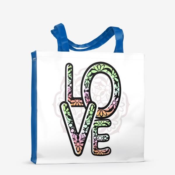 Сумка-шоппер «Любовь. Надпись. Лето»