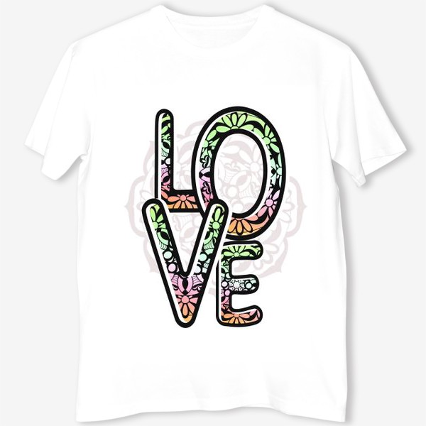 Футболка «Любовь. Надпись. Лето»