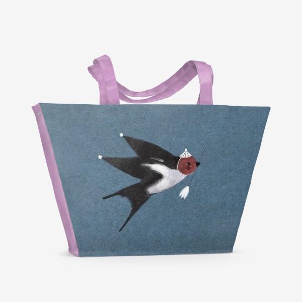 Пляжная сумка «Ласточка с весточкой»